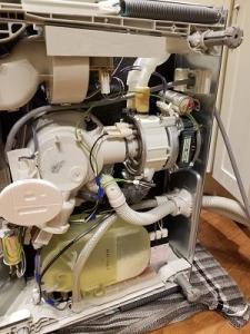 Dishwasher gasket replacement.