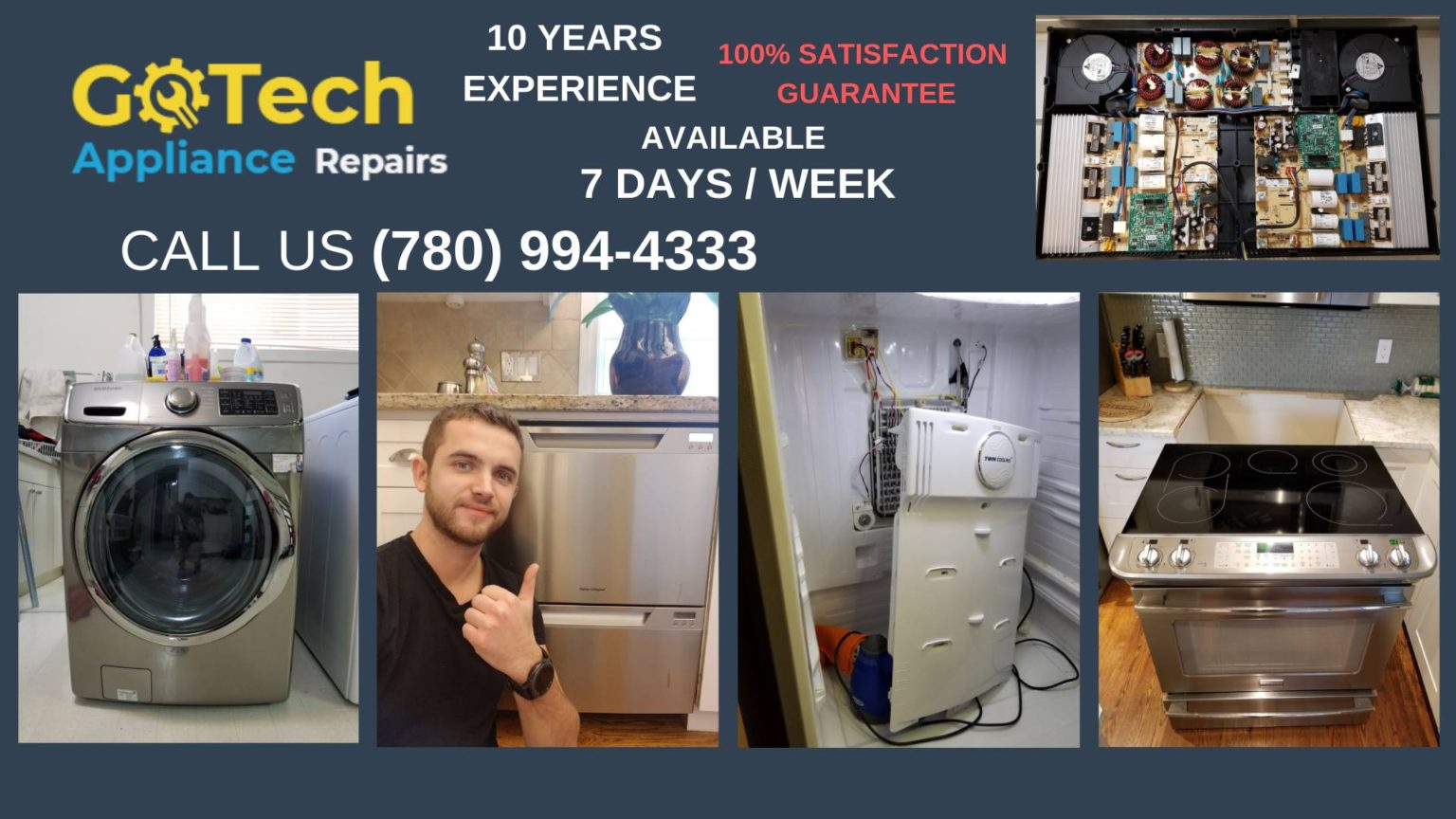 GoTech Appliance repair In Edmonton Helping with the repair
